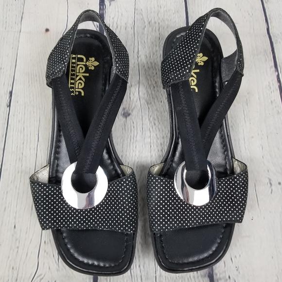 RIEKER | slip-on open toe slingback sandals